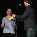 Poetenfee und Moderator Jan Siegert  beim 1. U20 Poetry Slam Erlangen im November 2010