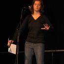 Dorothee Bleisch beim 1. U20 Poetry Slam Erlangen im November 2010