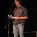 Johannes Welsch beim 1. U20 Poetry Slam Erlangen im November 2010