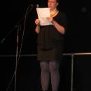 Marianne Kunkel beim 1. U20 Poetry Slam Erlangen im November 2010