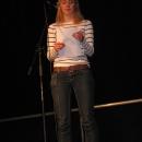 Katalin Hetzelt beim 1. U20 Poetry Slam Erlangen im November 2010