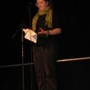 Tanja Langner beim 1. U20 Poetry Slam Erlangen im November 2010