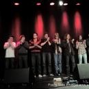 Finaler Auflauf beim 7. Geburtstag des Poetry Slam Erlangen 2009