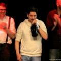 Gewinner Nektarios Vlachopoulos beim Geburtstags-Poetry-Slam Erlangen im Januar 2014