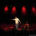 Nektarios Vlachopoulos beim Geburtstags-Poetry-Slam Erlangen im Januar 2014