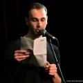 Pierre Jarawan beim Geburtstags-Poetry-Slam Erlangen im Januar 2014