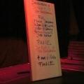 Poetenliste beim Geburtstags-Poetry-Slam Erlangen im Januar 2014