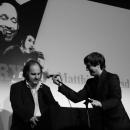 Das Rednerpult für Matthias Egersdörfer - Jubiläumsshow 10 Jahre Poetry Slam Erlangen Januar 2012