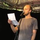 Alexander Burkhard beim Open-Air-Poetry-Slam zum Poetenfest 2013