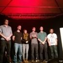 Die Künstler des Abends beim Open-Air-Poetry-Slam zum Poetenfest 2013