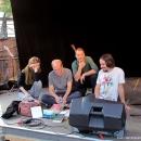Verkaufsbühne beim Open-Air-Poetry-Slam zum Poetenfest 2013