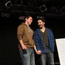 Finalisten Renato Kaiser und Sulaiman Masomi - Poetry Slam Erlangen im April 2011