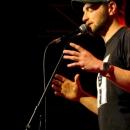 Flo Langbein beim Poetry Slam Erlangen im April 2014