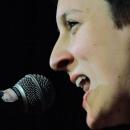 Kathi Mock beim Poetry Slam Erlangen im April 2014