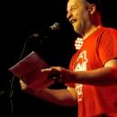 Paul Weigl beim Poetry Slam Erlangen im April 2014
