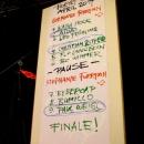 Poetenliste beim Poetry Slam Erlangen im April 2014