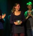 Die Gewinnerin des Abends Lillemore Kausch beim Poetry Slam Erlangen im April 2016
