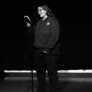 Iris Schwarz beim Poetry Slam Erlangen im Dezember 2010