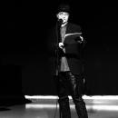 Merlin beim Poetry Slam Erlangen im Dezember 2010