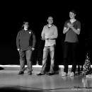 Die Drei Finalisten beim Poetry Slam Erlangen im Dezember 2010