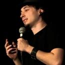 Andreas Kirchmayer beim Poetry Slam Erlangen im Dezember 2013