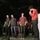 Die Finalisten beim Poetry Slam Erlangen im Dezember 2013