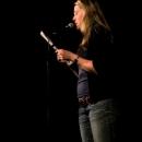 Franziska Wilhelm beim Poetry Slam Erlangen im Dezember 2013