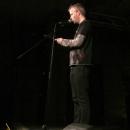 Robert Kayser beim Poetry Slam Erlangen im Dezember 2013