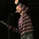 Tobi Kunze beim Poetry Slam Erlangen im Dezember 2013