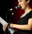 Kathi Mock beim Poetry Slam im Dezember 2014