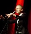 Lisa Eckhardt beim Poetry Slam im Dezember 2014