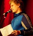 Thomas Spitzer beim Poetry Slam im Dezember 2014