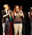 Die drei Finalisten beim Poetry Slam Erlangen im Dezember 2015
