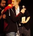 Siegerin Lisa Eckhart beim Poetry Slam Erlangen im Dezember 2015