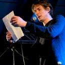 Andreas Weber beim Poetry Slam Erlangen im Februar 2014