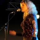 Gabriele Busse beim Poetry Slam Erlangen im Februar 2014