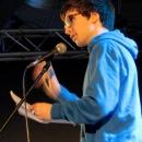 Manuel Jung beim Poetry Slam Erlangen im Februar 2014