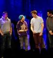 Finalisten beim Poetry Slam Erlangen im Februar 2015
