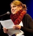 Heike Temmel beim Poetry Slam Erlangen im Februar 2015