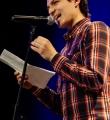 Max Schulle beim Poetry Slam Erlangen im Februar 2015