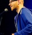 Tobias Heyel beim Poetry Slam Erlangen im  beim Poetry Slam Erlangen im Februar 2015 2015