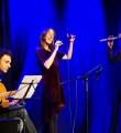"Die Musiker des Abends ""Coisa Linda"" beim Poetry Slam Erlangen im Februar 2016"