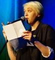 Leonie Warnke beim Poetry Slam Erlangen im Februar 2016