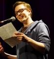 Tom Schildhauer beim Poetry Slam Erlangen im Februar 2016
