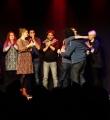 Die große Siegerumarmung beim Poetry Slam Erlangen im Februar 2016