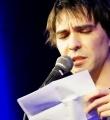 Andi Valent beim Poetry Slam in Erlangen im Februar 2017