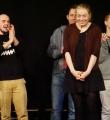 Die Gewinnerin Filo beim Poetry Slam in Erlangen im Februar 2017