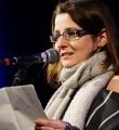 Frederike Jakob im Halbfinale beim Poetry Slam in Erlangen im Februar 2017