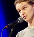 Yannick Steinkellner beim Poetry Slam in Erlangen im Februar 2017