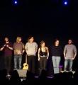 Alle Künstler des Abends beim Poetry Slam in Erlangen im Januar 2016